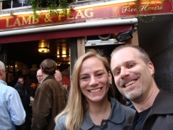 Anne and Brian at the Lamb and Flag