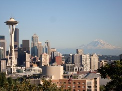 Space Needle and Mt. Rainier