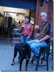 Lorie Milo and Moose at the Skookum pub