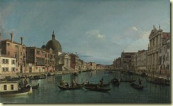 Venice - The Grand Canal with S. Simeone Piccolo by Canaletto