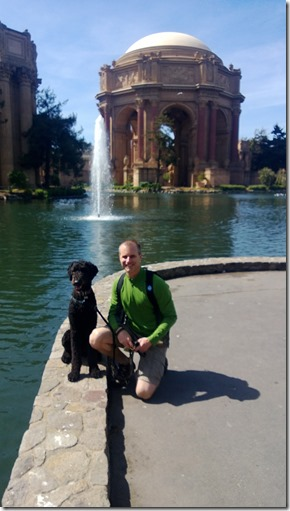Busby and Brian at the Palace of Fine Arts