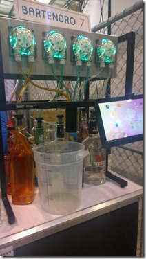 Bartendro to make drinks based on the bottles hooked up to it
