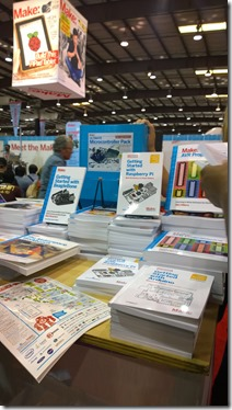 Books for the computer and robotic controllers to buy at Maker Faire
