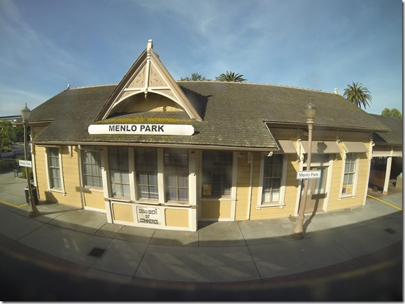 Fish Eye of Menlo Park train station