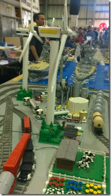Lego trains windmills and ships