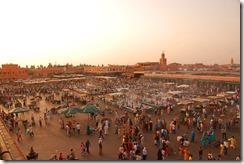 The market in Marrakech