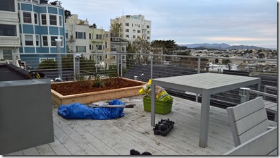 Garden and messy deck