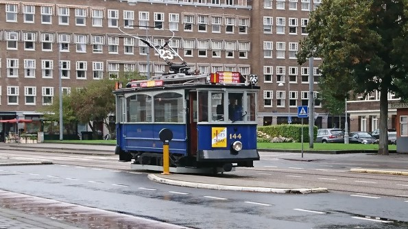 Old tram in Amsterdam