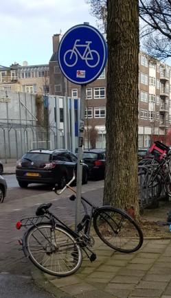 Bike lock - bike sign