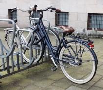 Bike lock - on a rack