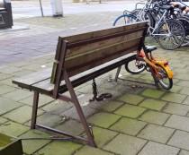 Bike lock - park bench