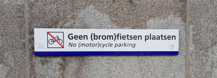 No bike or scooter parking