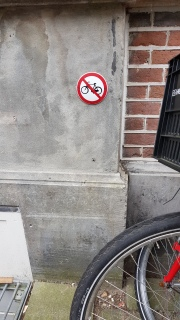 Where not to park your bike