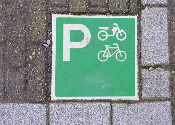 Where to park your bike or scooter